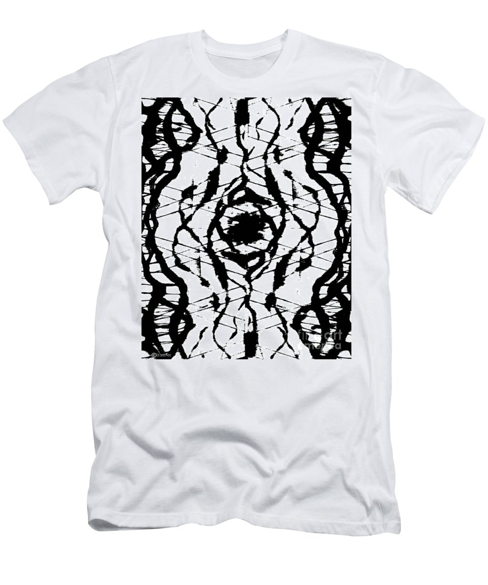 Abstract Men's T-Shirt (Athletic Fit) featuring the digital art Ink Spot by Lizi Beard-Ward