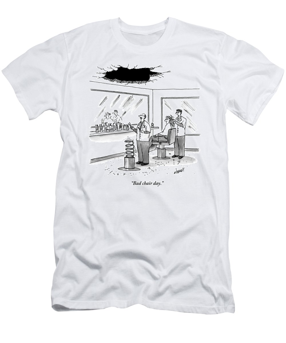 Cctk T-Shirt featuring the drawing Inside Of A Barbershop There Is A Hole by Tom Cheney