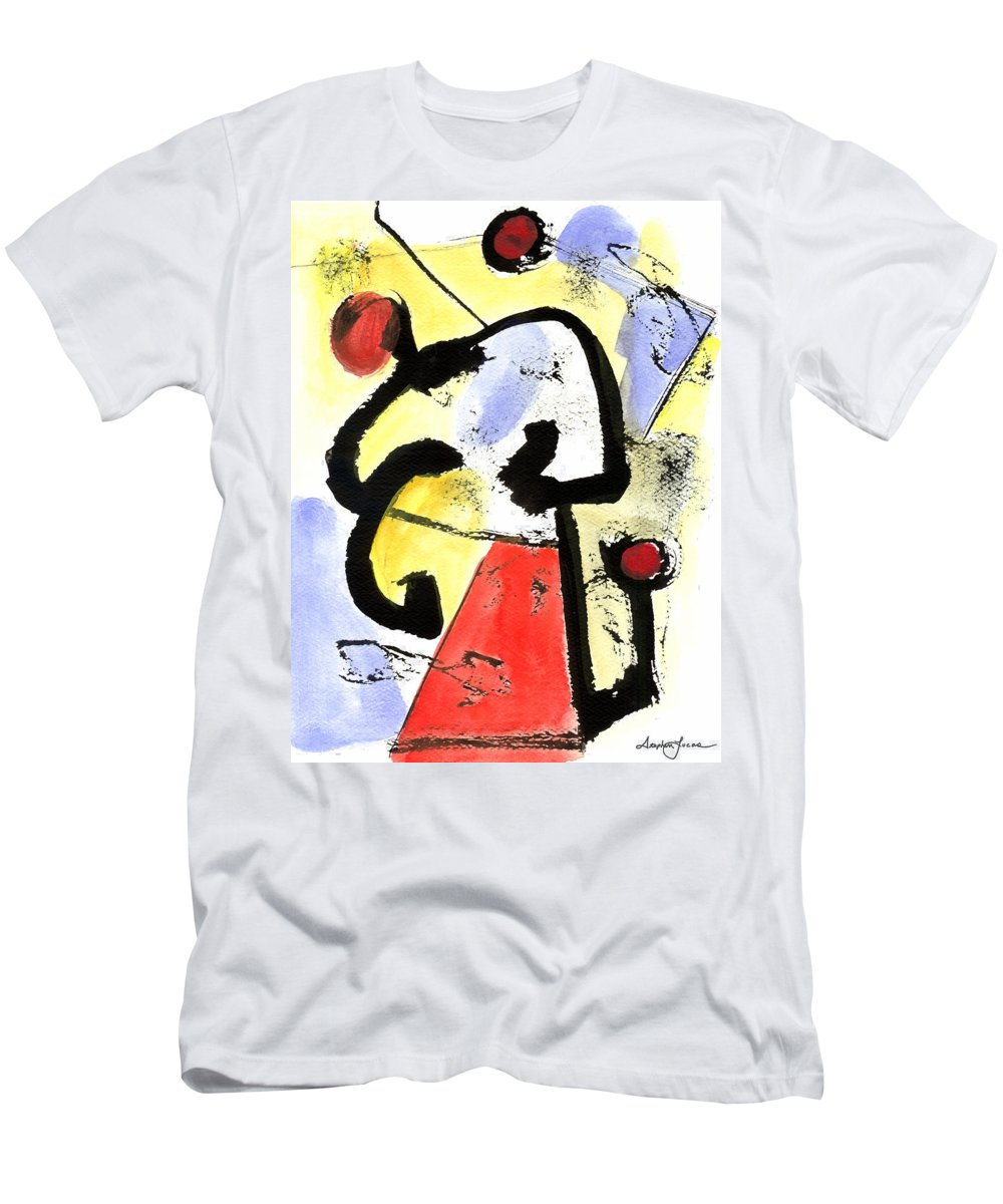 Abstract Art Men's T-Shirt (Athletic Fit) featuring the painting Intense And Purpose 1 by Stephen Lucas