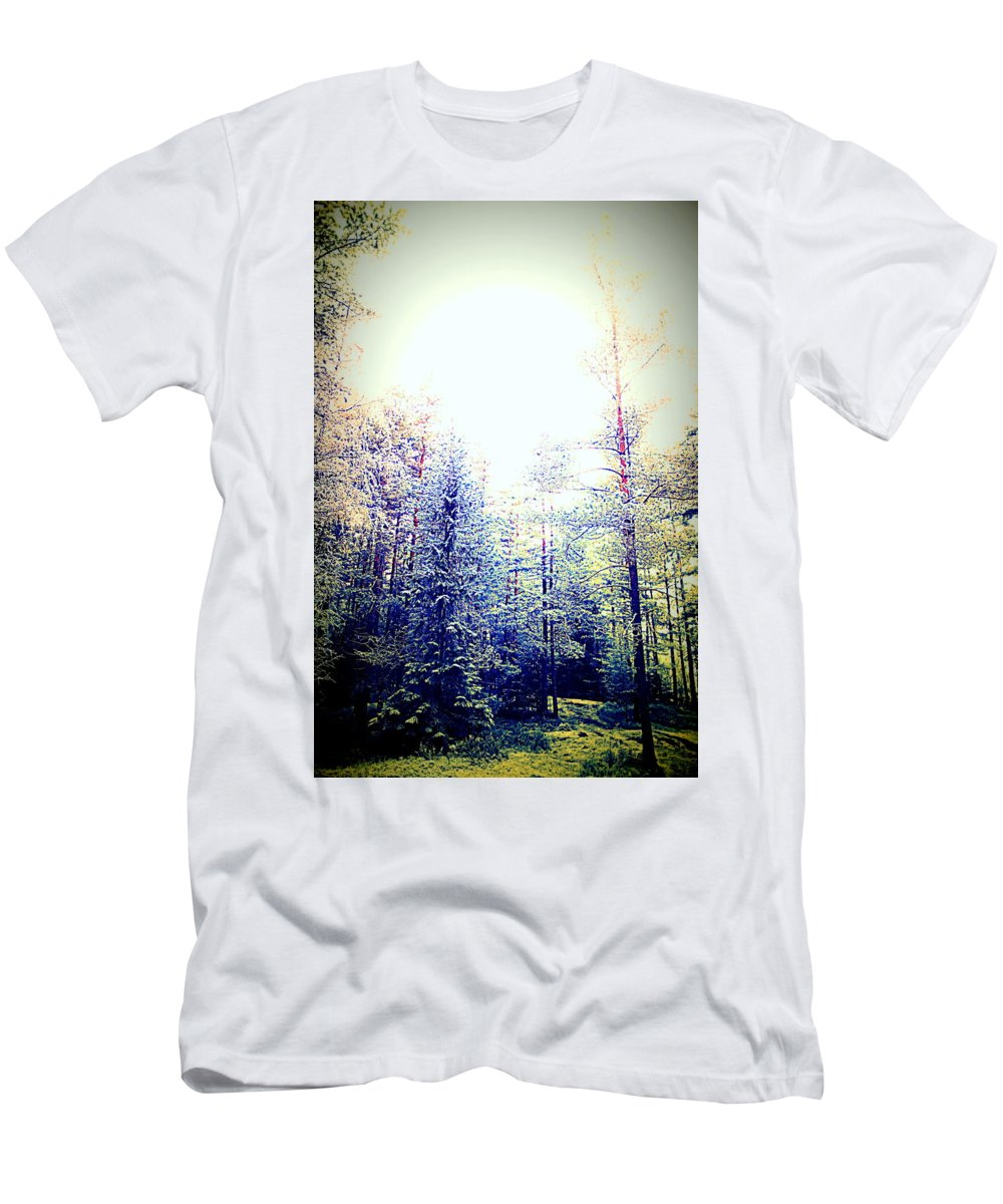 Nature Men's T-Shirt (Athletic Fit) featuring the photograph We Drifted Into Silence And Never Came Back by Hilde Widerberg
