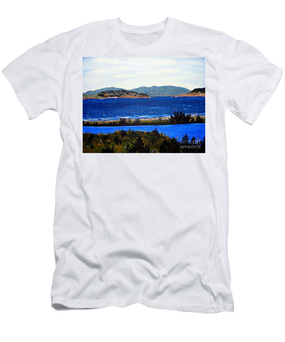 Islands T-Shirt featuring the painting Iona formerly Rams Islands by Barbara Griffin