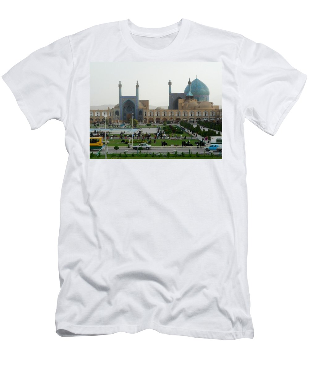 Iran Men's T-Shirt (Athletic Fit) featuring the photograph Iran Isfahan by Lois Ivancin Tavaf