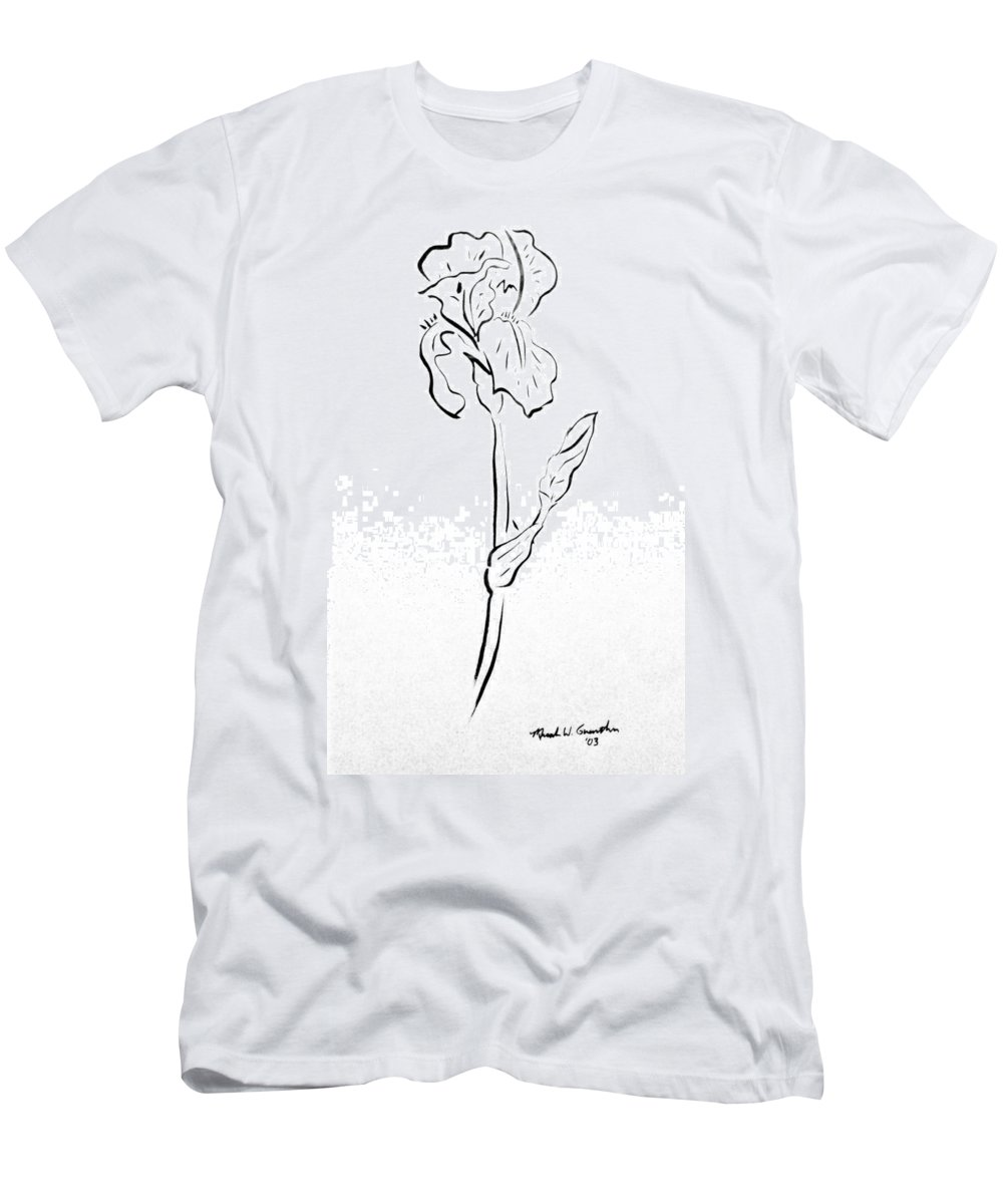 Abstract Men's T-Shirt (Athletic Fit) featuring the drawing Iris II by Micah Guenther