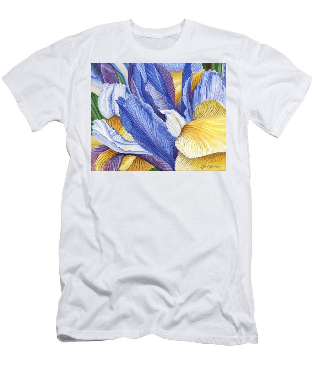 Iris T-Shirt featuring the painting Iris by Jane Girardot