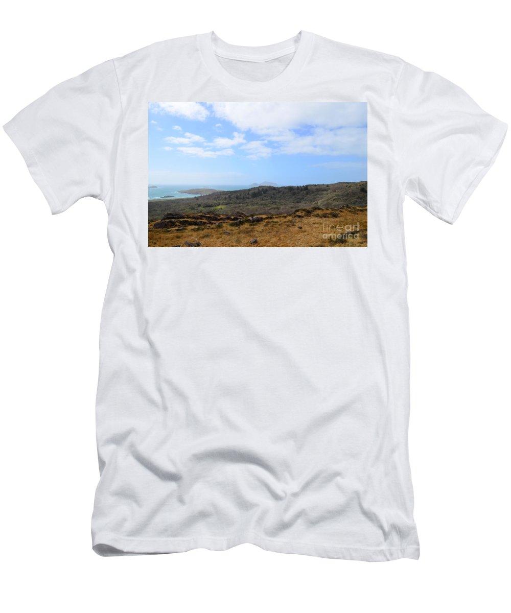 Irish Men's T-Shirt (Athletic Fit) featuring the photograph Irish Coast by DejaVu Designs