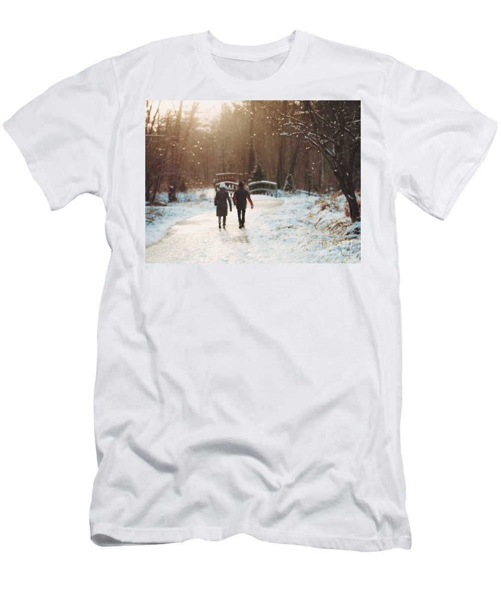 Winter Men's T-Shirt (Athletic Fit) featuring the photograph It's Starting To Look A Lot Like Christmas by Mary Smyth