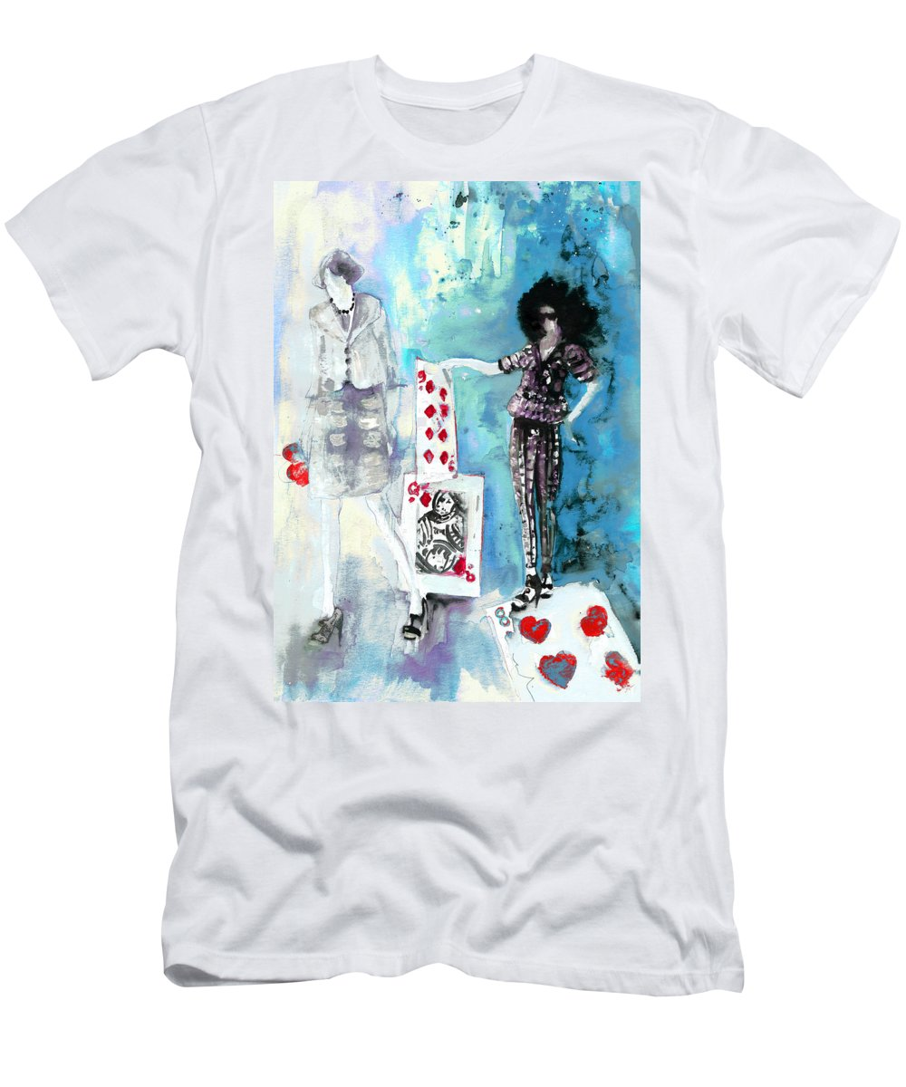 Travel Men's T-Shirt (Athletic Fit) featuring the painting Jeux De Seduction In Dublin 02 by Miki De Goodaboom