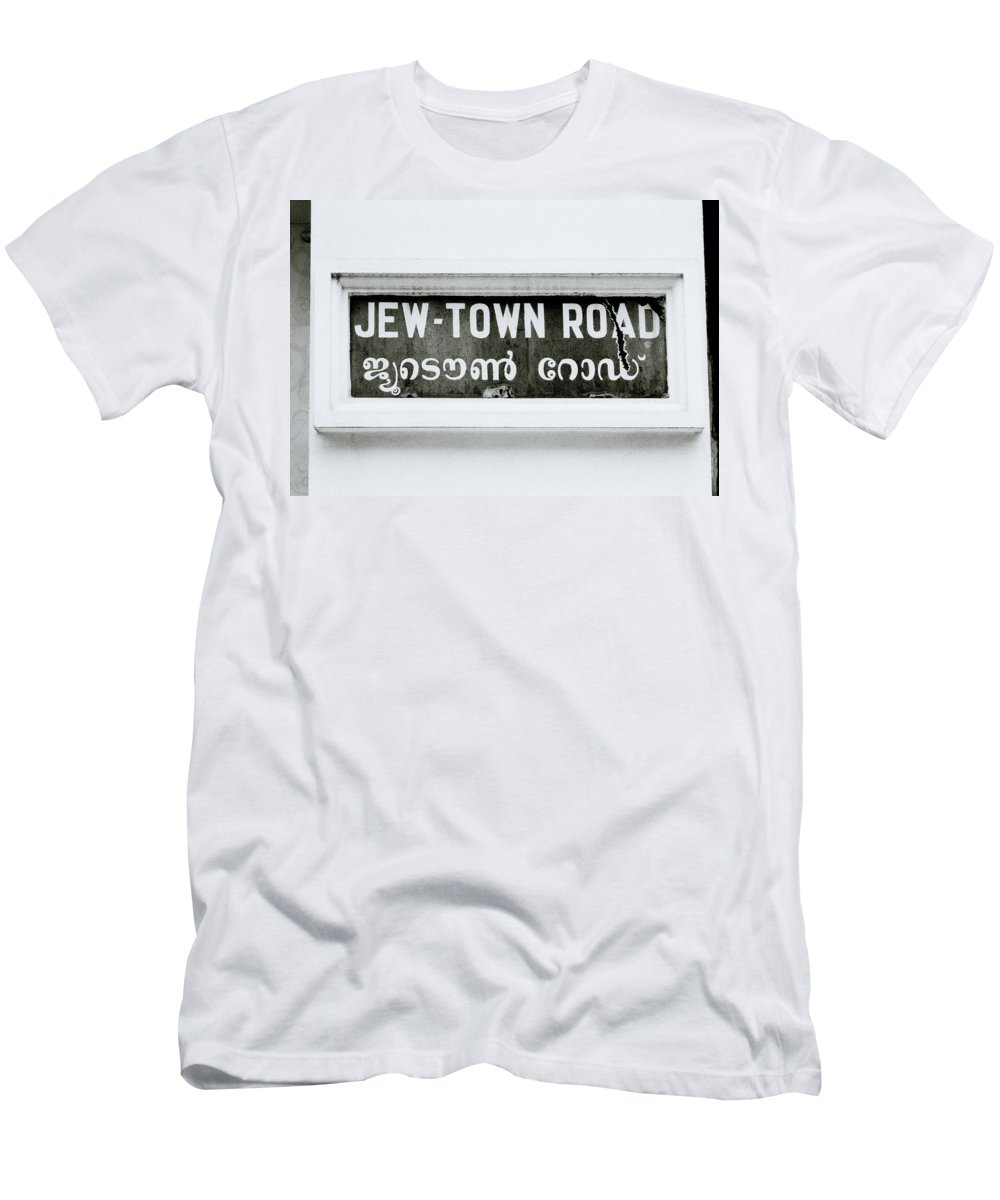 Jew Men's T-Shirt (Athletic Fit) featuring the photograph Jew Town by Shaun Higson