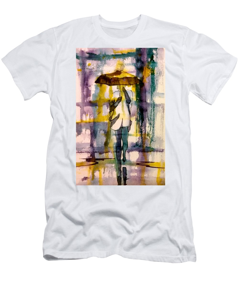 Jo Malone Men's T-Shirt (Athletic Fit) featuring the painting Jo Malone 2 by Debbie Lewis