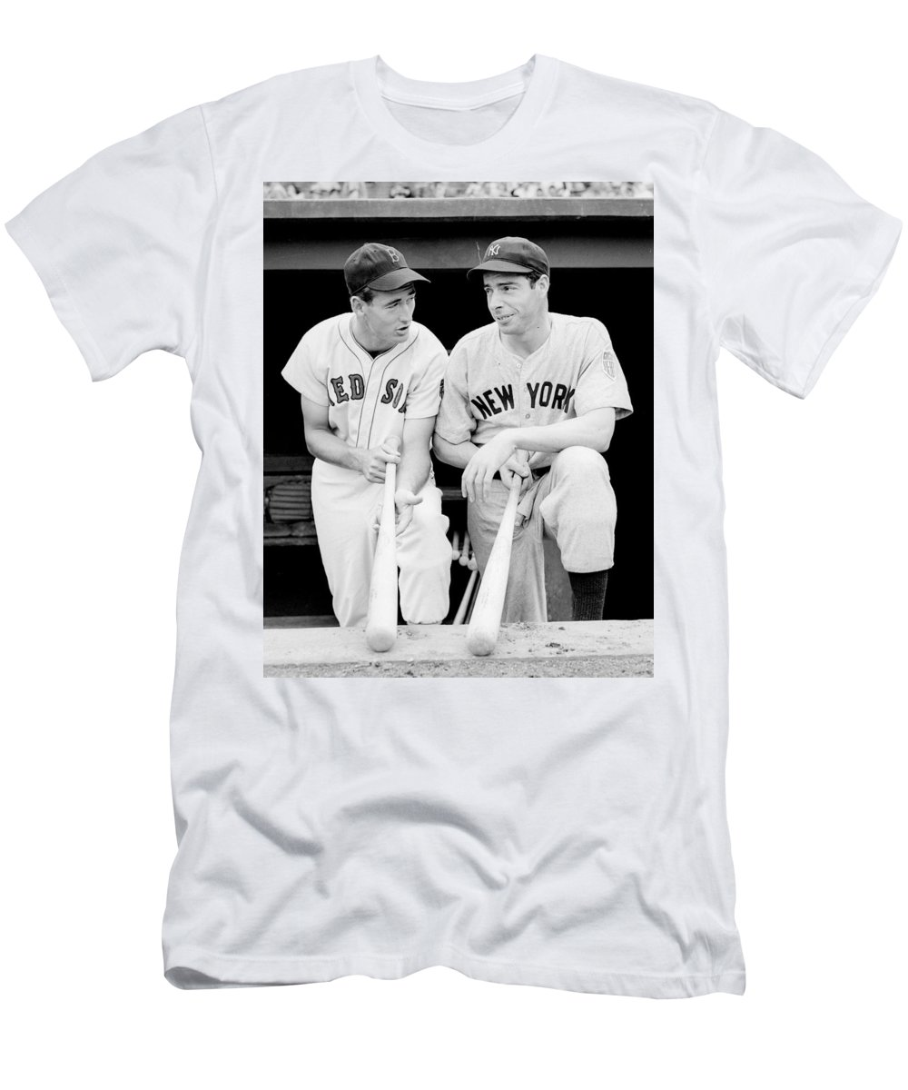 Joe Men s T-Shirt (Athletic Fit) featuring the photograph Joe Dimaggio And  Ted da8451cdf0c