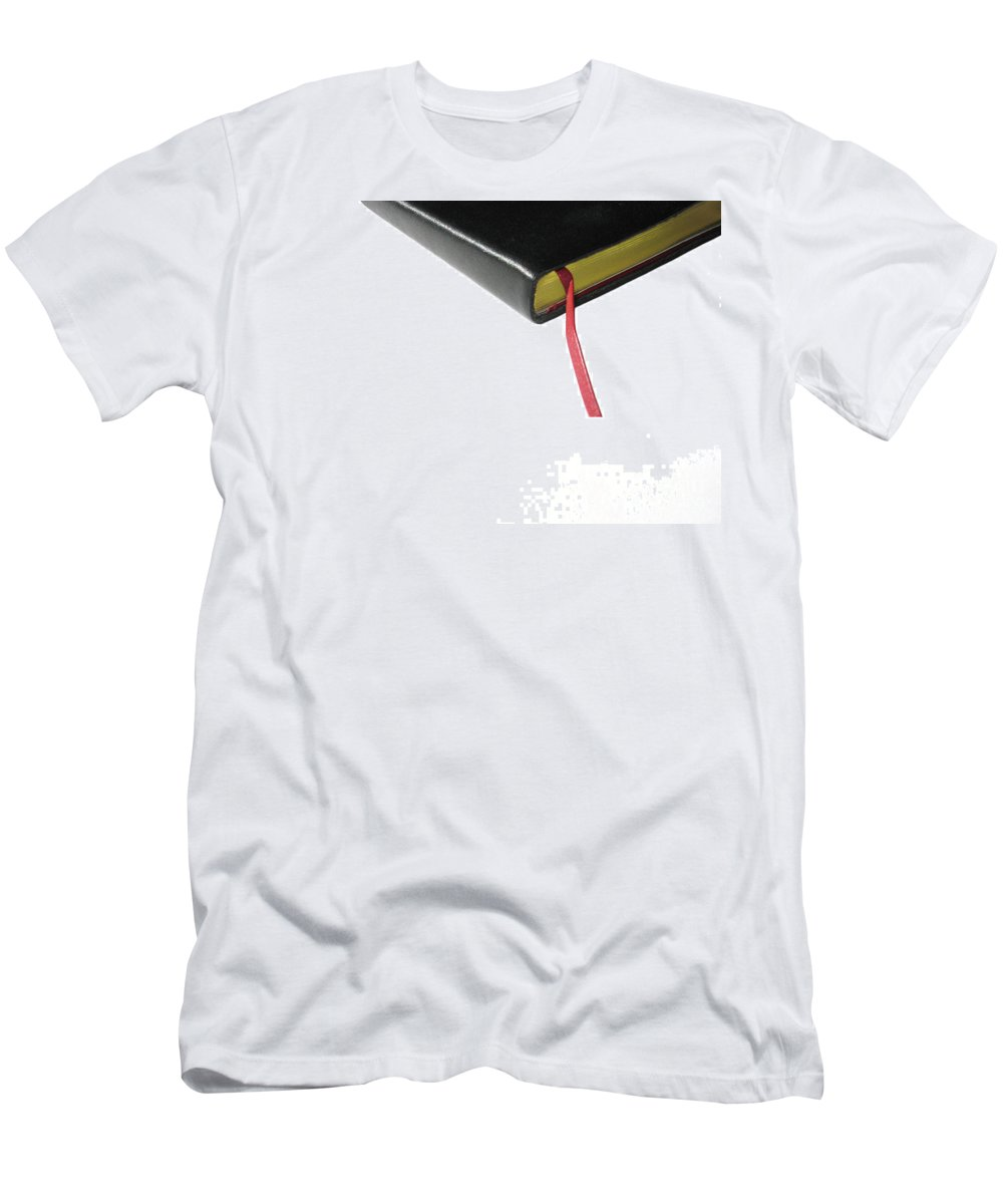 Journal Men's T-Shirt (Athletic Fit) featuring the photograph Journal by Ann Horn