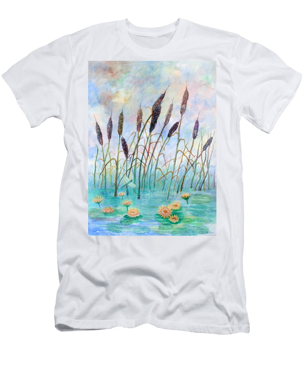 Pond T-Shirt featuring the painting Joy Of Summer by Ben Kiger