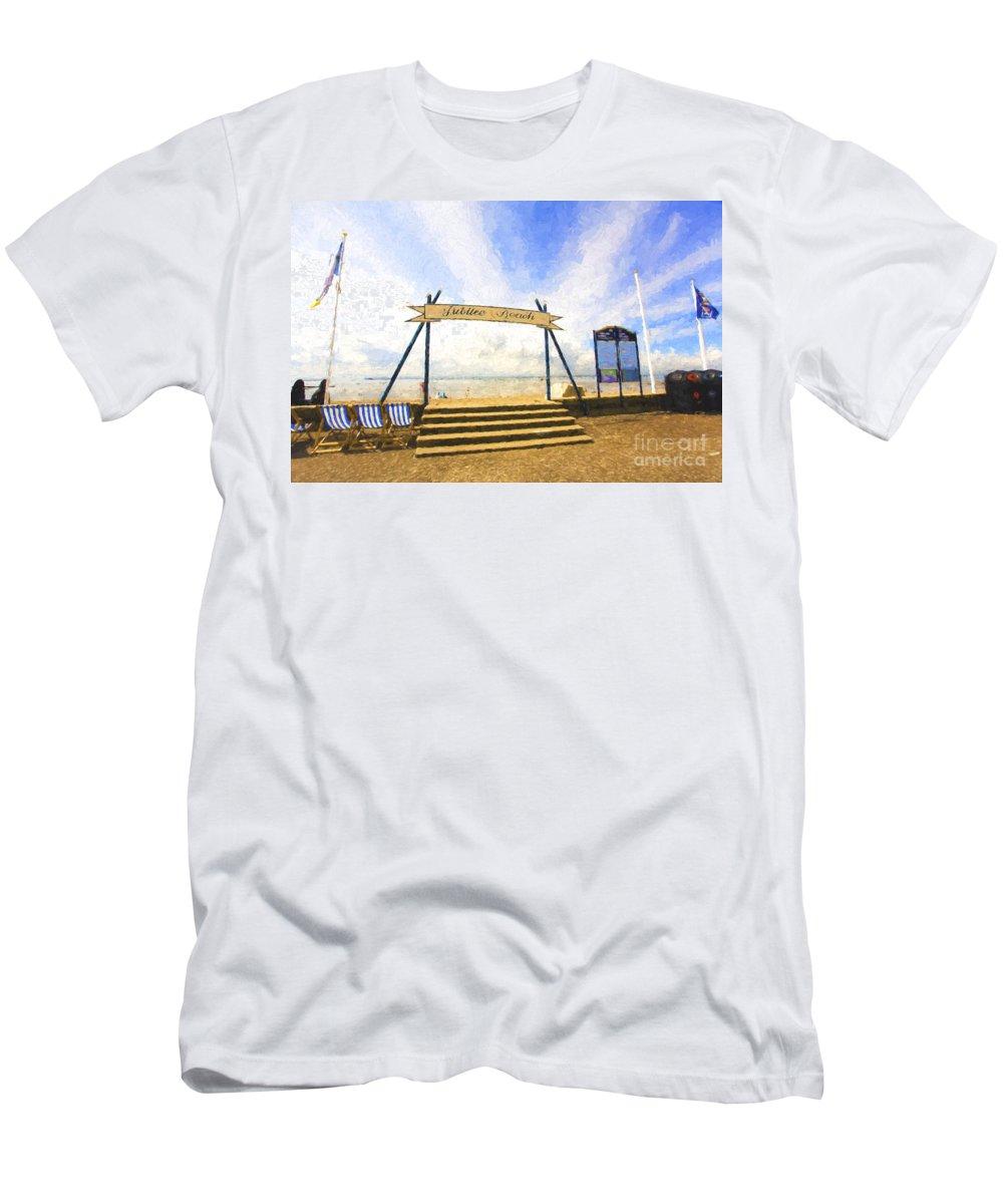 Jubilee Beach T-Shirt featuring the photograph Jubilee Beach Southend On Sea by Sheila Smart Fine Art Photography