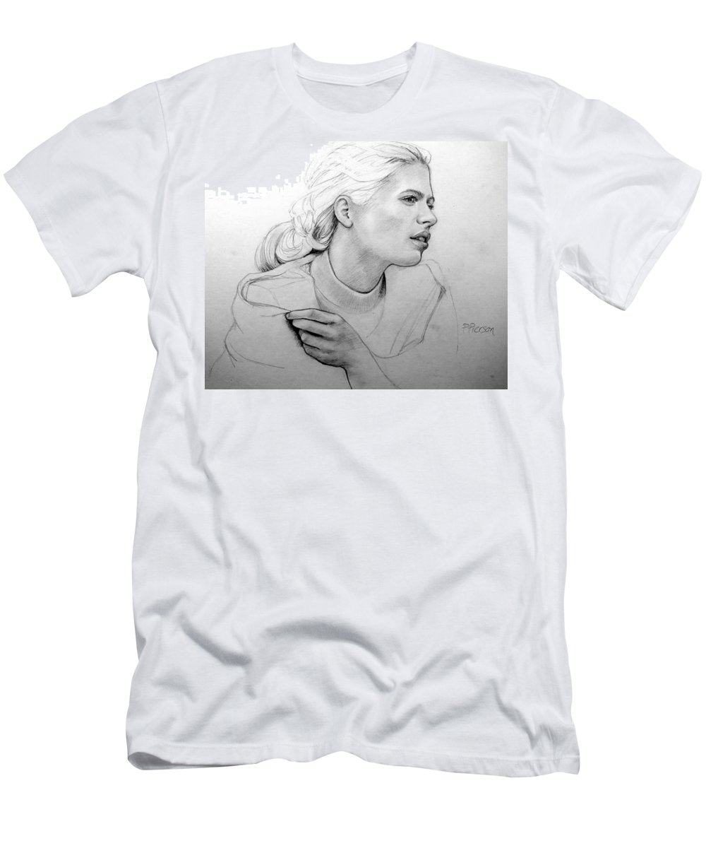 Portrait Men's T-Shirt (Athletic Fit) featuring the drawing Judith by Patrick Anthony Pierson