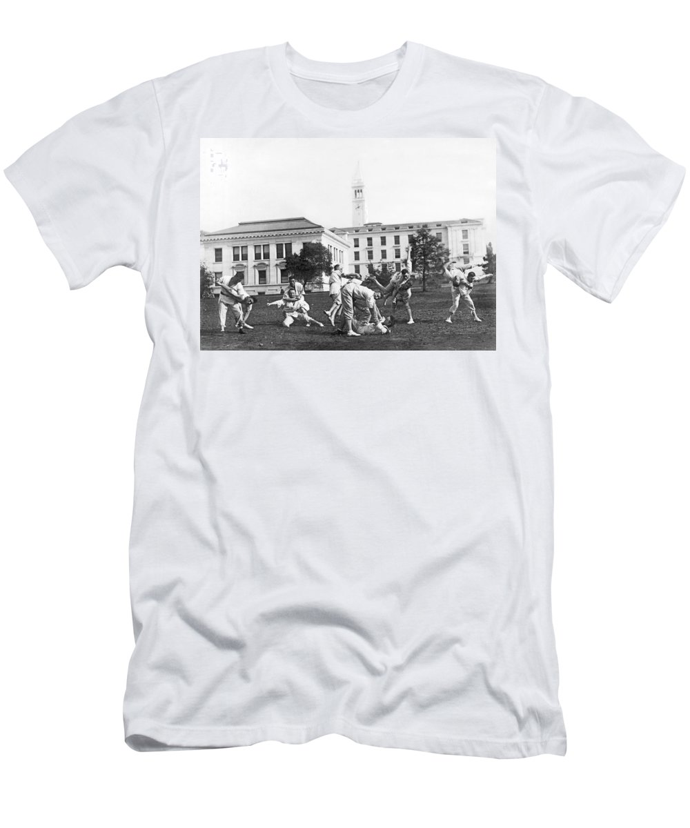 1890s Men's T-Shirt (Athletic Fit) featuring the photograph Judo At Uc Berkeley by Underwood Archives