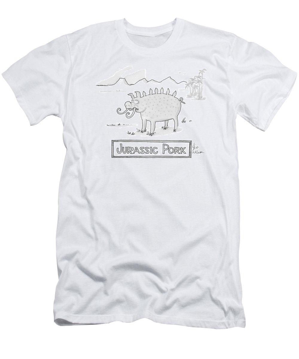 7cc174e3a3 Jurassic Pork T-Shirt for Sale by Leo Cullum
