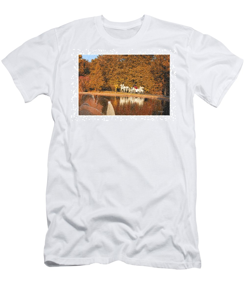 Grand Tradition Men's T-Shirt (Athletic Fit) featuring the drawing Just Married - A Fairytale by Angela Stanton