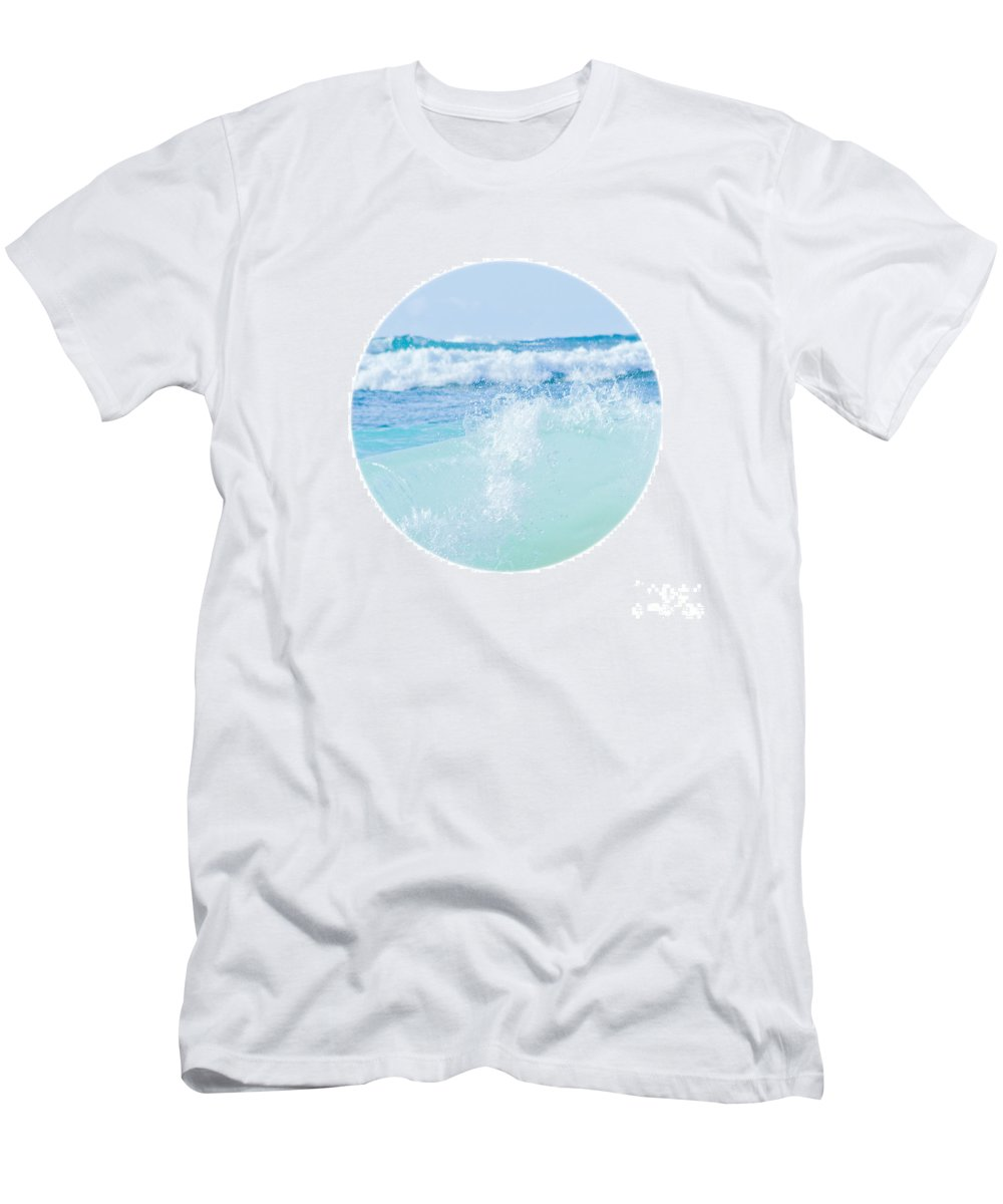 Kapukaulua Beach Men's T-Shirt (Athletic Fit) featuring the photograph Kapuka'ulua Pure Blue by Sharon Mau