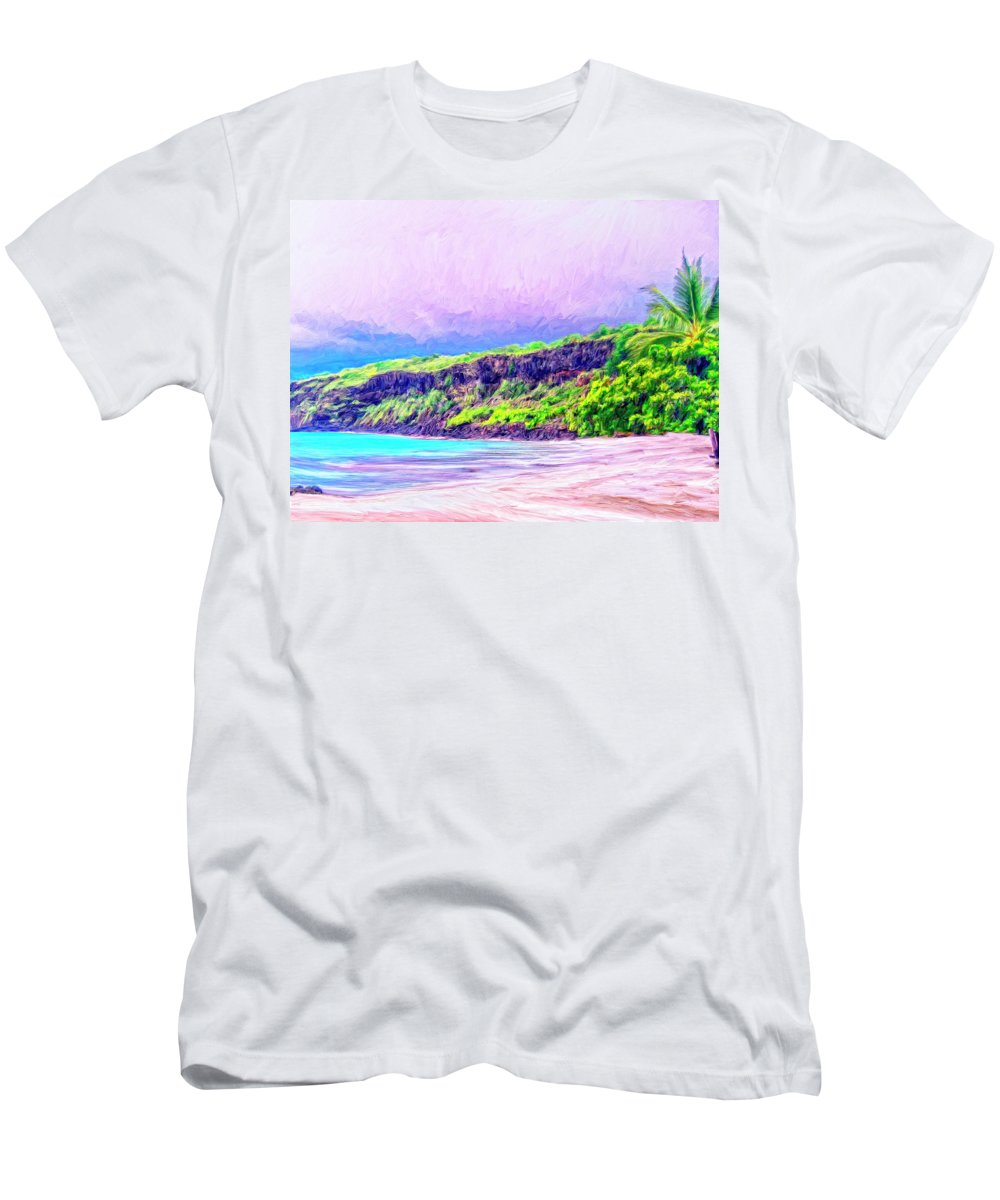 Napoopoo Men's T-Shirt (Athletic Fit) featuring the painting Kealakekua Morning by Dominic Piperata
