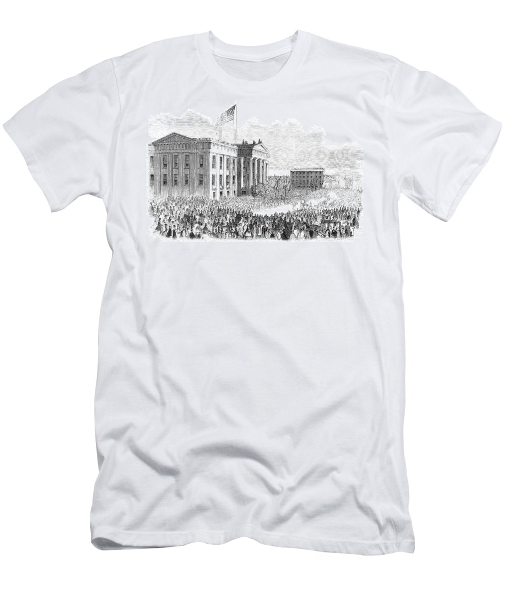 1861 Men's T-Shirt (Athletic Fit) featuring the painting Kentucky Louisville, 1861 by Granger