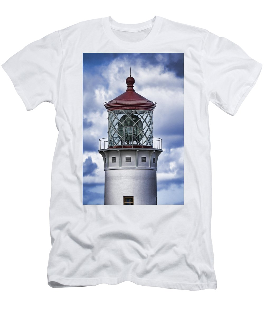 Kilauea Point Lighthouse Hawaii Hawaii Men's T-Shirt (Athletic Fit) featuring the photograph Kilauea Point Lighthouse Hawaii by Douglas Barnard