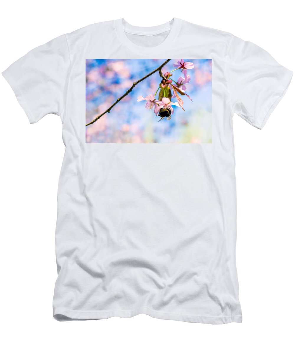 Sakura Men's T-Shirt (Athletic Fit) featuring the photograph Kiss Me Honey by Alexander Senin