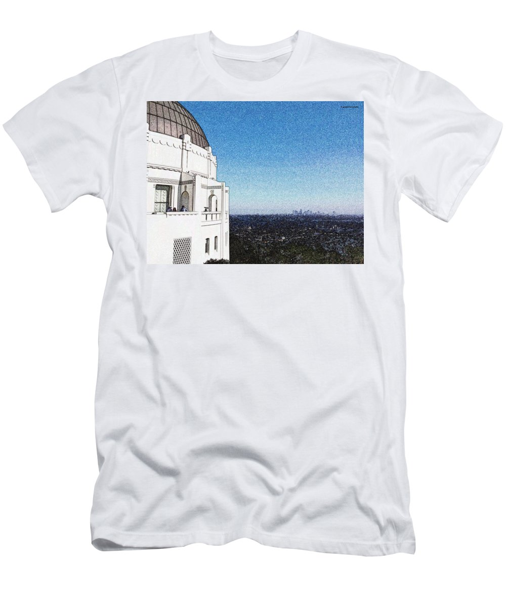 Downtown Men's T-Shirt (Athletic Fit) featuring the photograph LA by James Markey