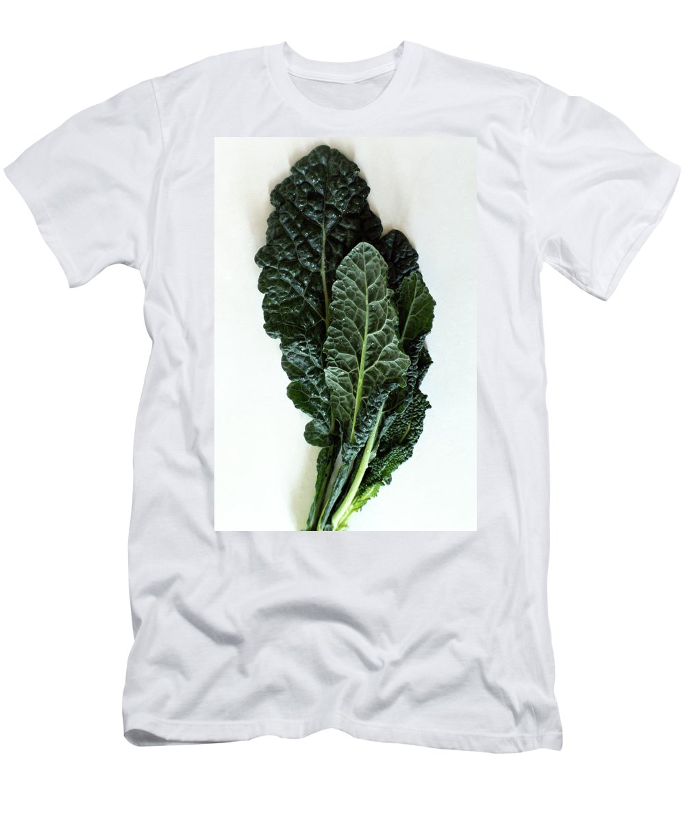 Food Men's T-Shirt (Athletic Fit) featuring the photograph Lacinato Kale by Romulo Yanes