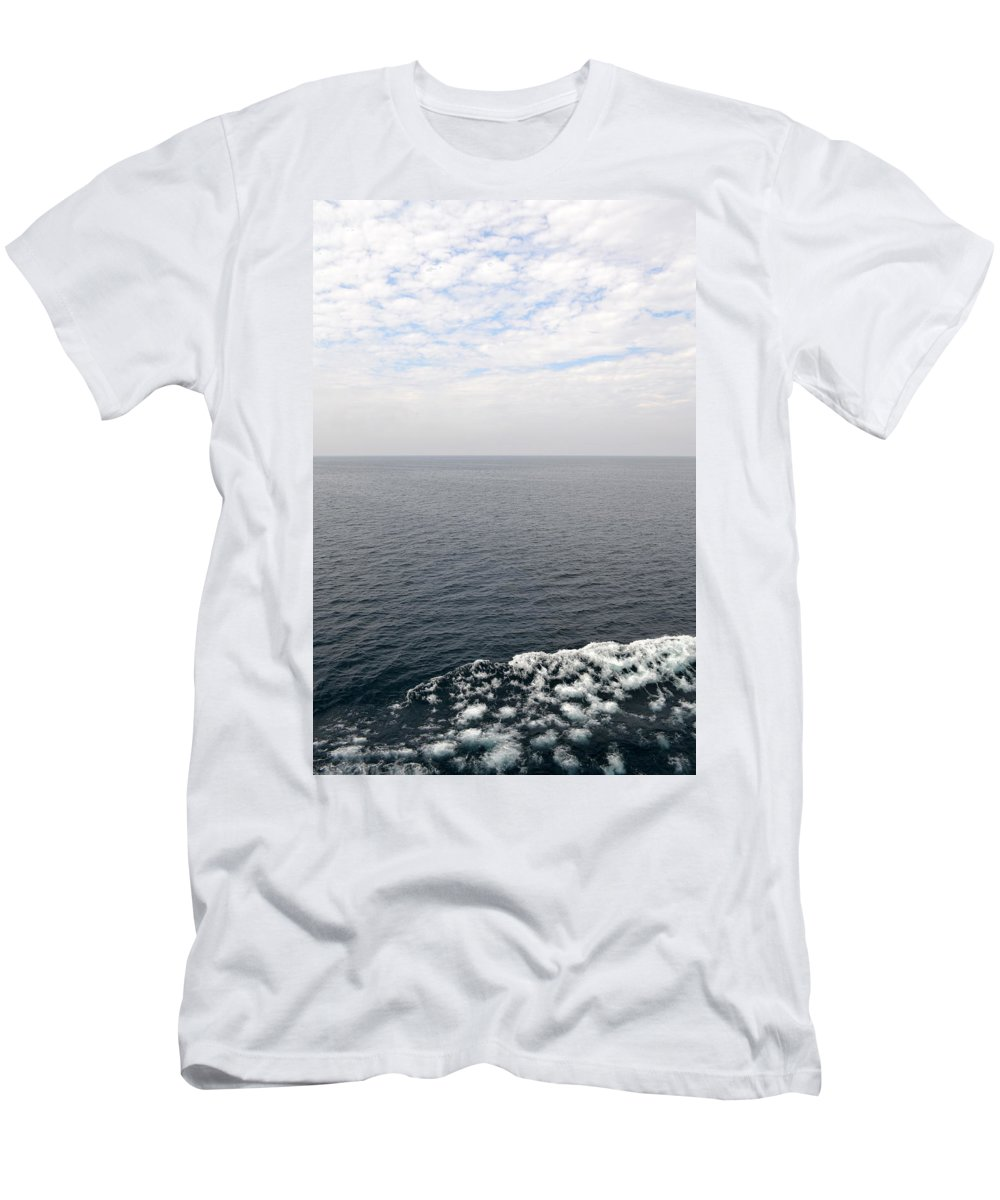 Lake Michigan Men's T-Shirt (Athletic Fit) featuring the photograph Lake Michigan Midpoint by Michelle Calkins