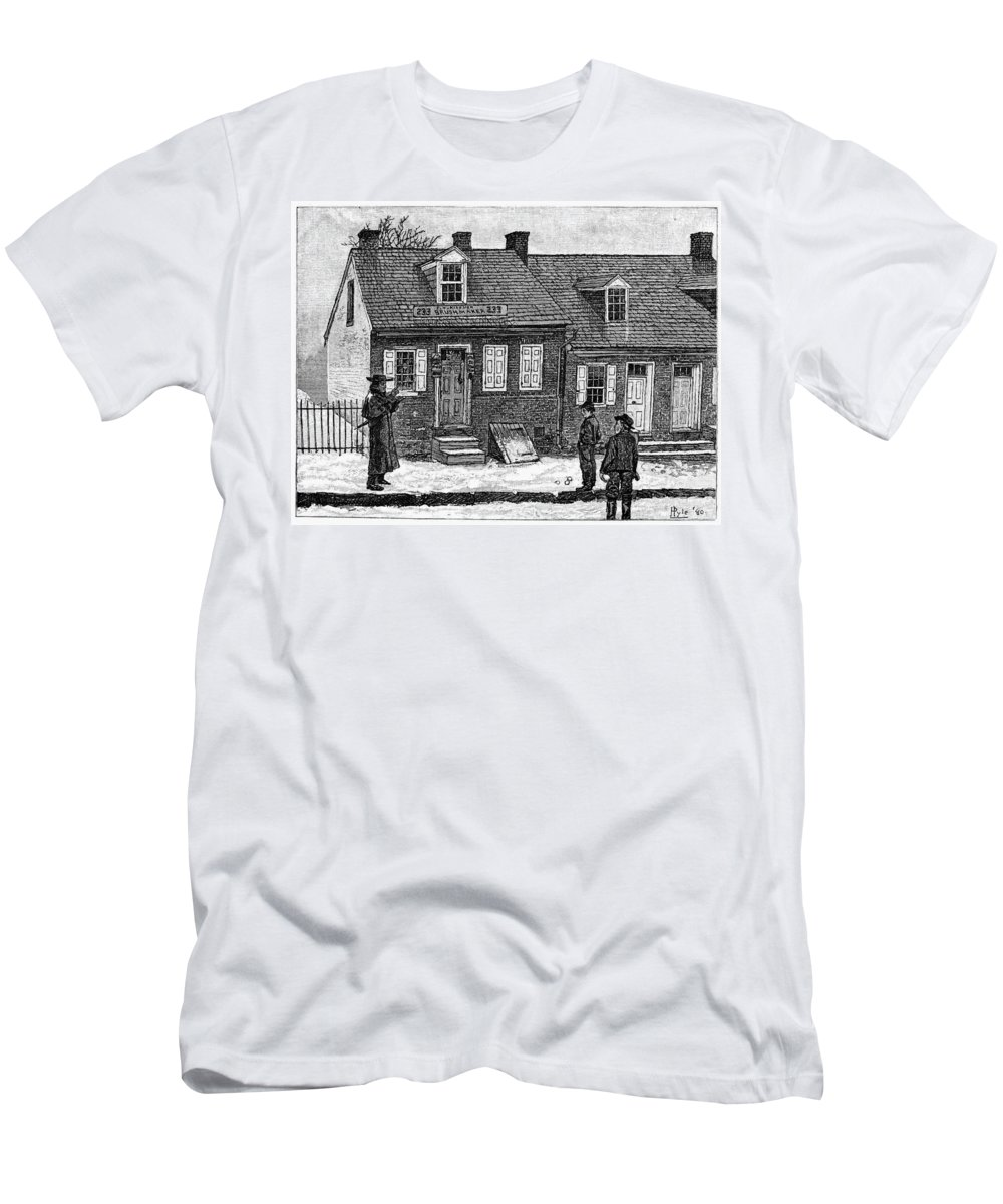 1880 Men's T-Shirt (Athletic Fit) featuring the painting Lancaster, Pennsylvania by Granger
