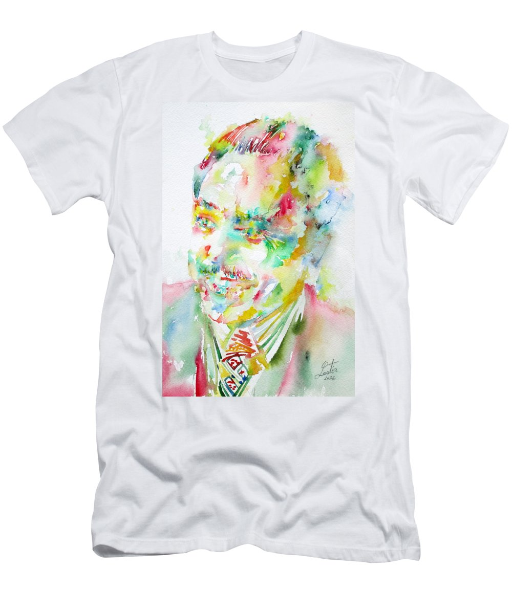 Langston Men's T-Shirt (Athletic Fit) featuring the painting Langston Hughes by Fabrizio Cassetta
