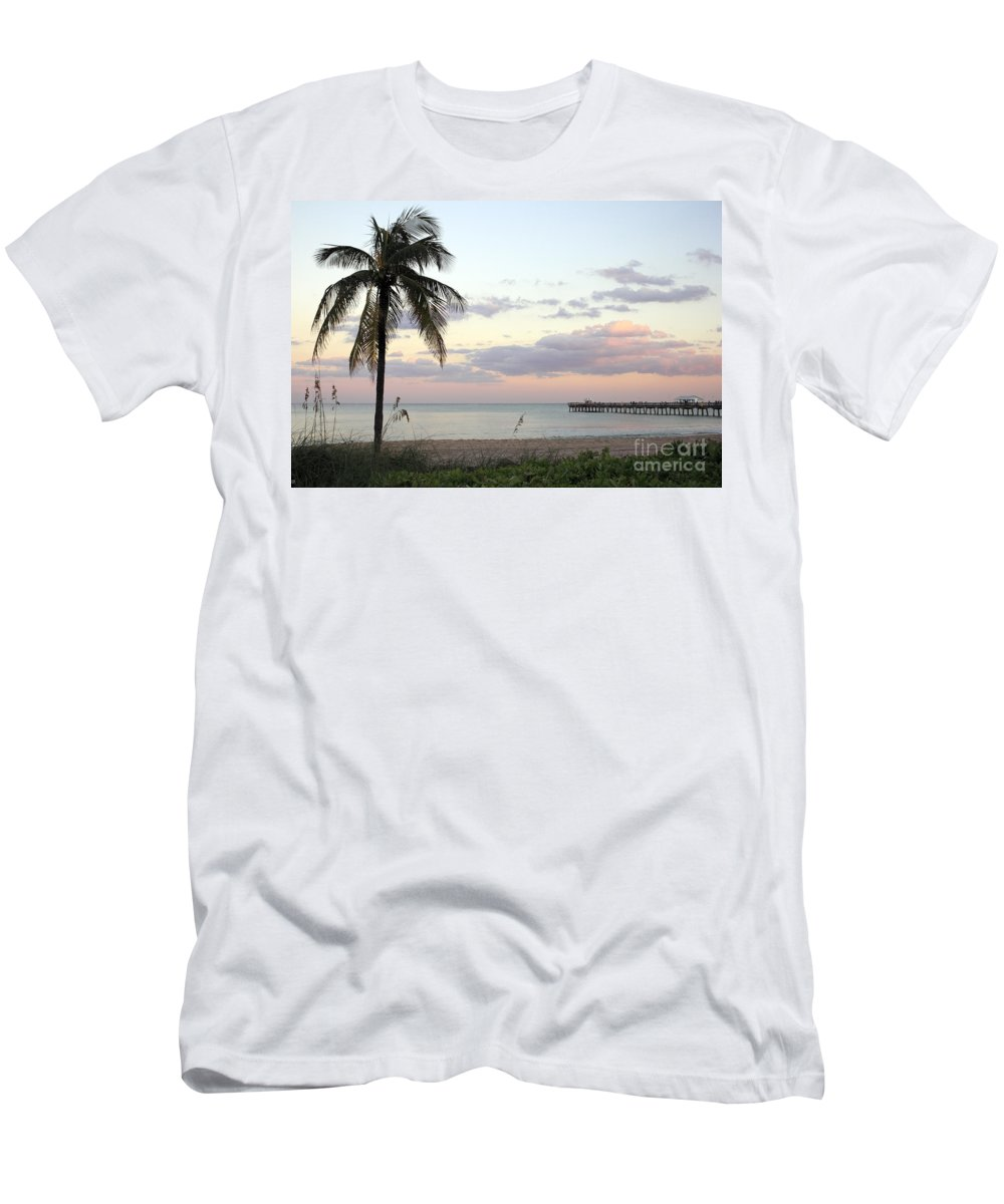 Lauderdale-by-the-sea Men's T-Shirt (Athletic Fit) featuring the photograph Lauderdale By The Sea Florida Sunset by Lee Serenethos