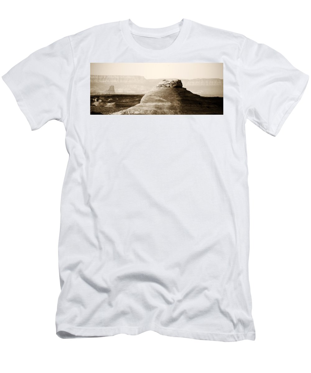 Light Men's T-Shirt (Athletic Fit) featuring the photograph Light Around The Curve by Marilyn Hunt