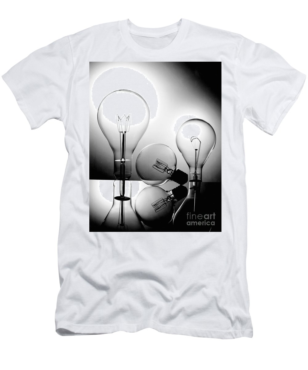 Gary Gingrich Men's T-Shirt (Athletic Fit) featuring the photograph Light Bulbs by Gary Gingrich Galleries