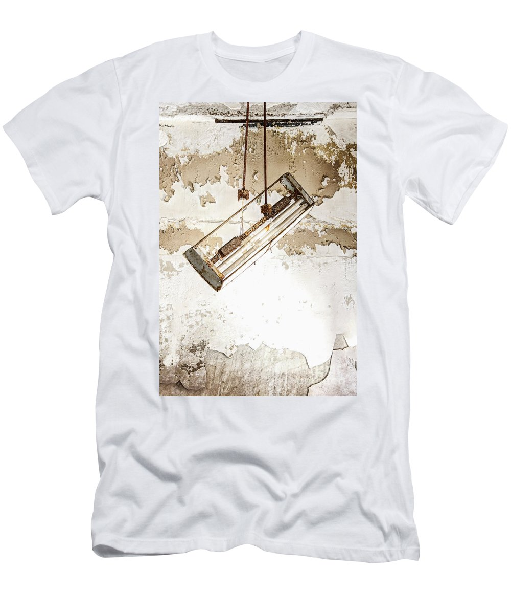 Light Men's T-Shirt (Athletic Fit) featuring the photograph Lights Out by Margie Hurwich