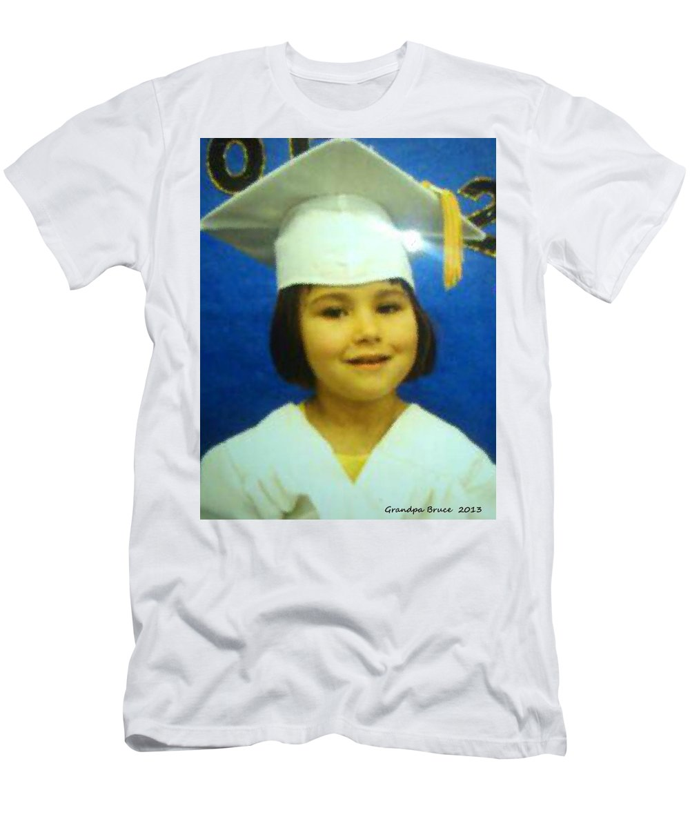 Lilli Men's T-Shirt (Athletic Fit) featuring the painting Lilli My Granddaughter by Bruce Nutting