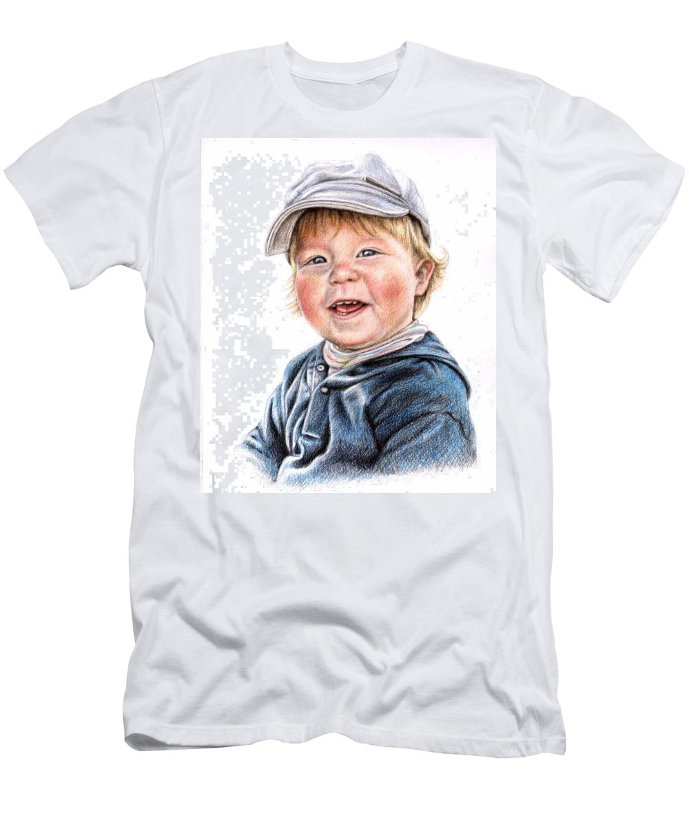 Boy Men's T-Shirt (Athletic Fit) featuring the drawing Little Boy by Nicole Zeug