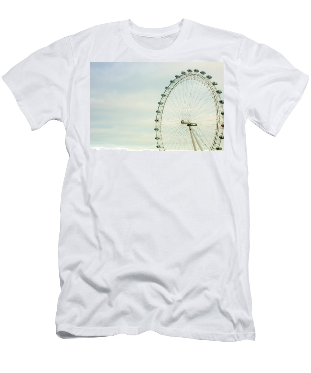London Men's T-Shirt (Athletic Fit) featuring the photograph London Eye Closeup by Pati Photography
