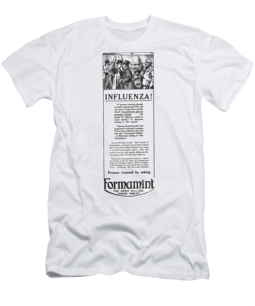 1918 Men's T-Shirt (Athletic Fit) featuring the photograph London: Influenza Epidemic by Granger