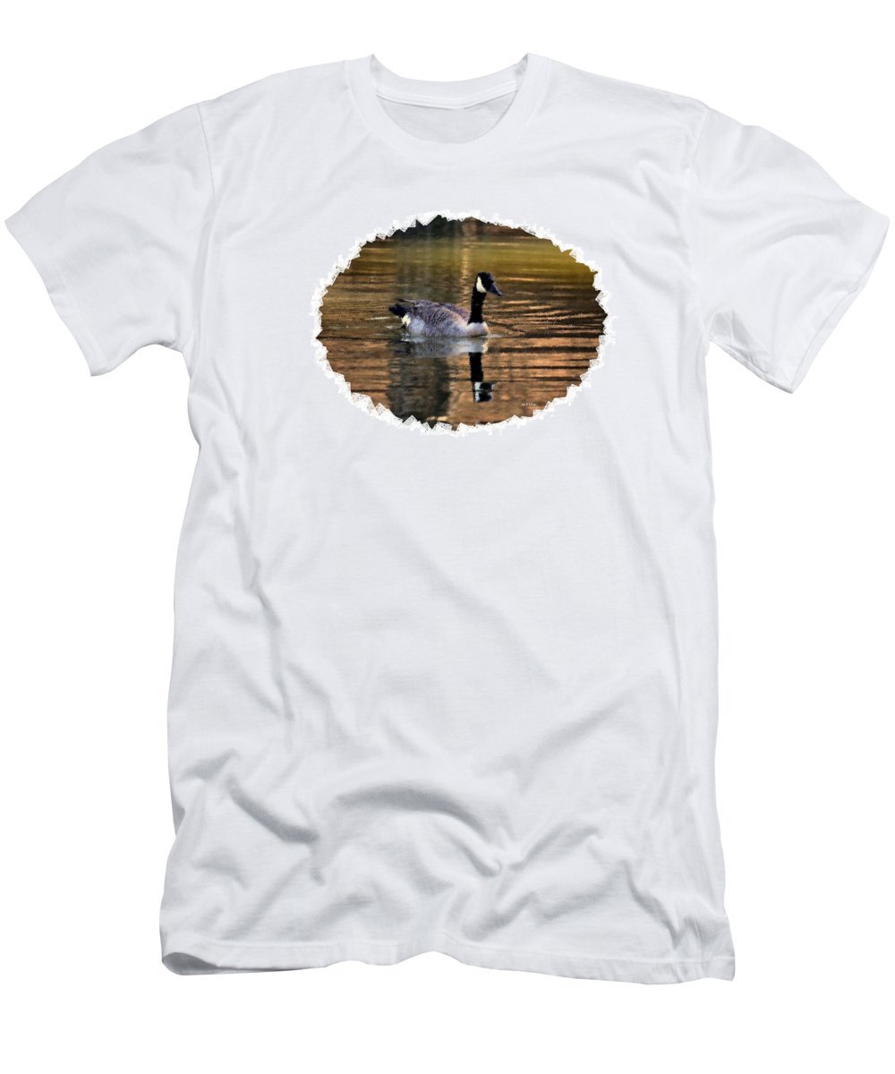 Lone Goose Men's T-Shirt (Athletic Fit) featuring the digital art Lone Goose by Maria Urso