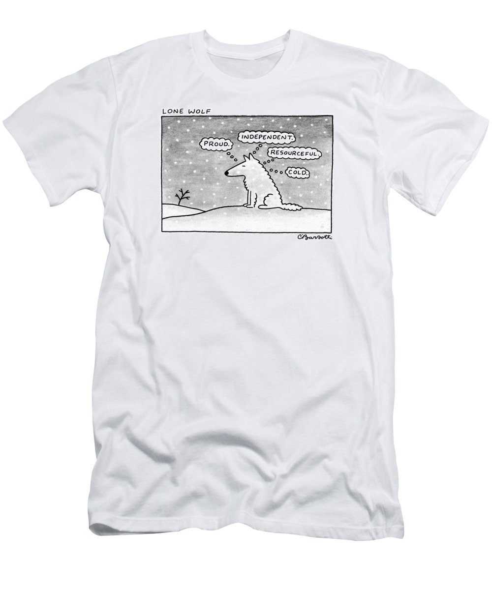 5eb92208c Lone Wolf: T-Shirt for Sale by Charles Barsotti