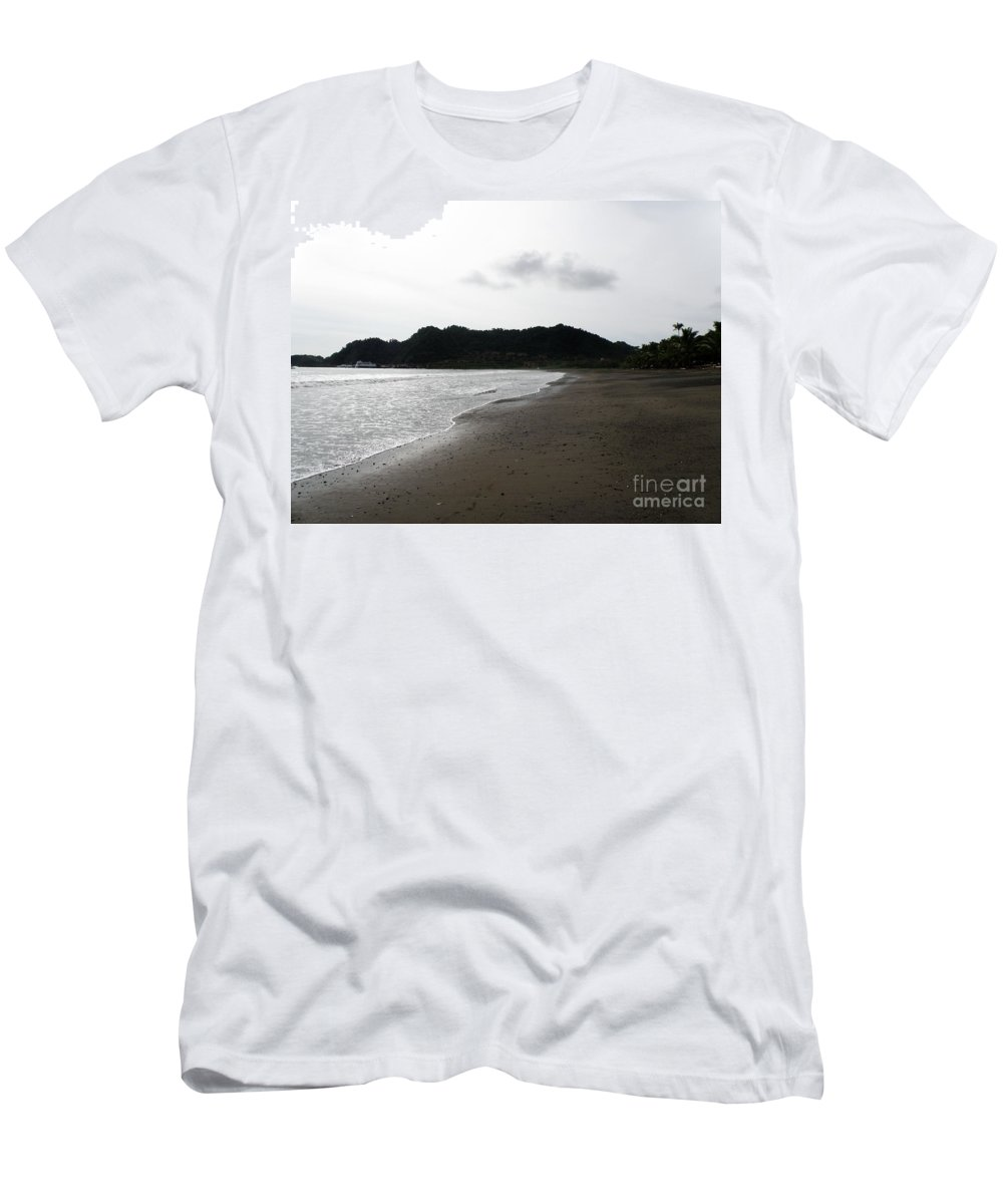 Costa Rica Men's T-Shirt (Athletic Fit) featuring the photograph Lonely Beach In Costa Rica by DejaVu Designs