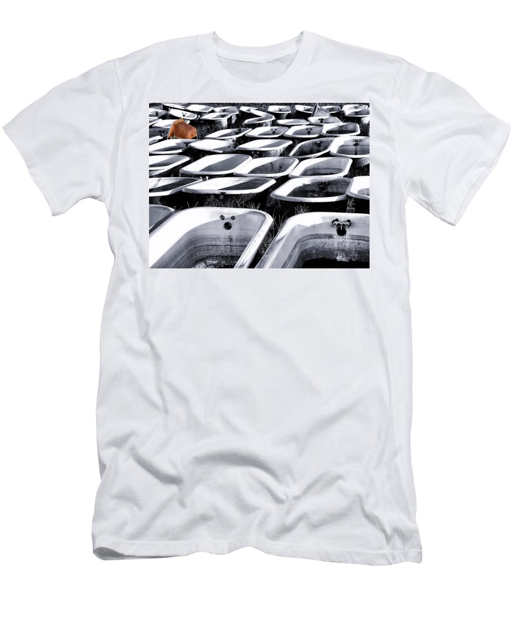 Porcelain Men's T-Shirt (Athletic Fit) featuring the photograph Lonesome Tub by Daniel George