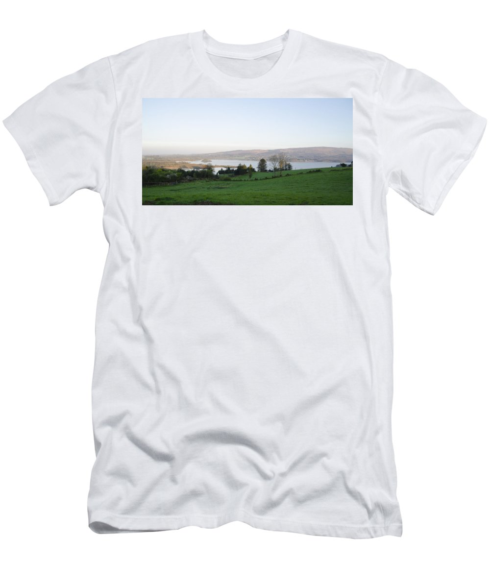 Looking Men's T-Shirt (Athletic Fit) featuring the photograph Looking Over Lough Eske - Donegal Ireland by Bill Cannon