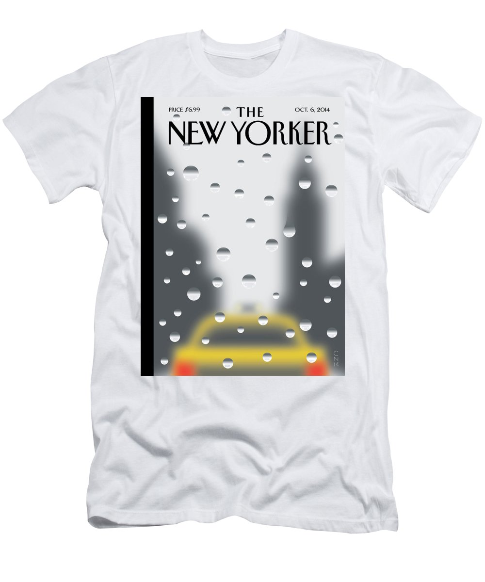 141060 T-Shirt featuring the painting Rainy Day by Christoph Niemann