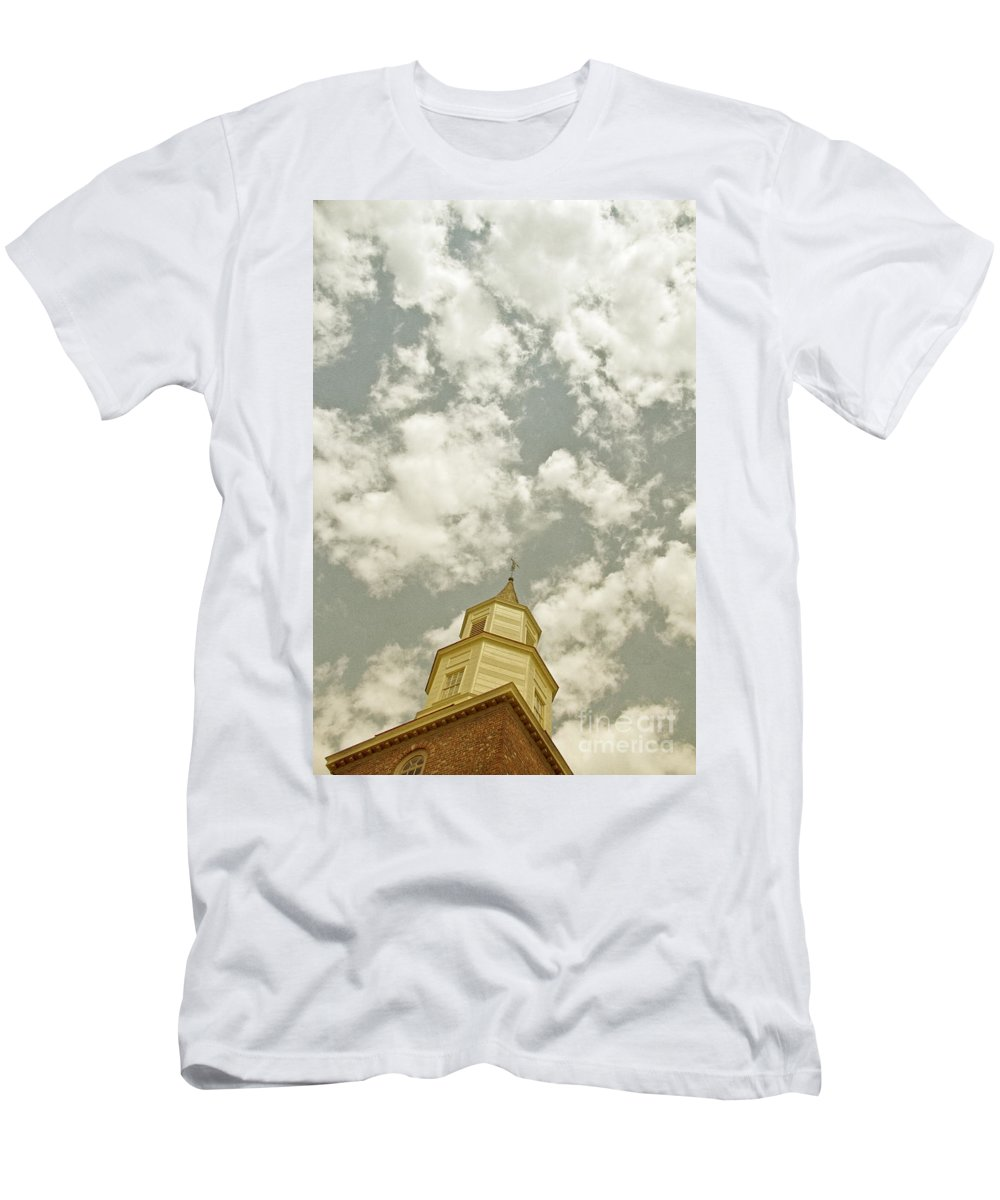 Church Men's T-Shirt (Athletic Fit) featuring the photograph Looking Up At Heaven by Margie Hurwich