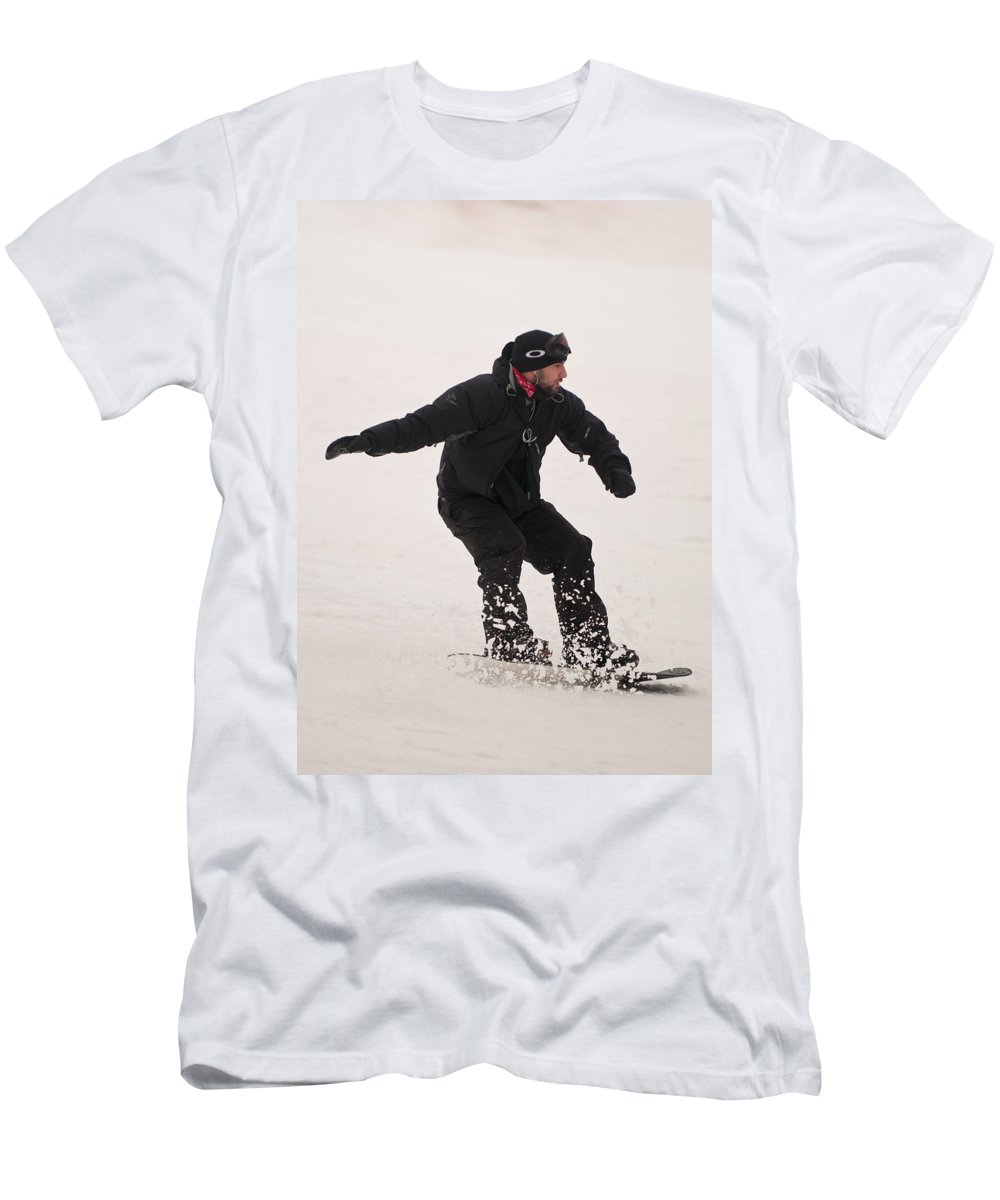 Men's T-Shirt (Athletic Fit) featuring the photograph Loon Run 43 by Paul Mangold