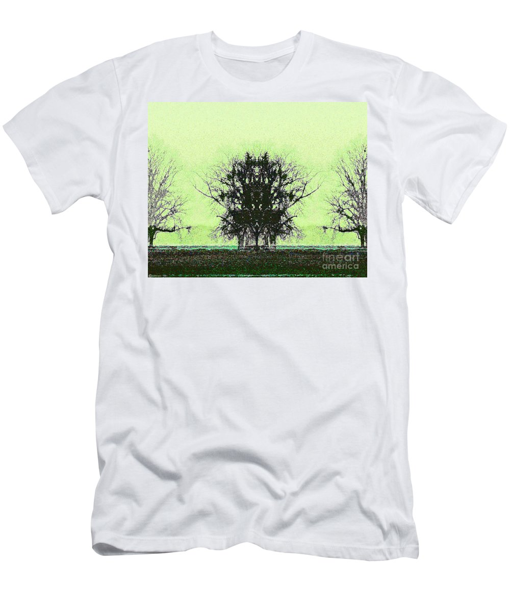 Digital Men's T-Shirt (Athletic Fit) featuring the digital art Lord Of The Trees by Lizi Beard-Ward