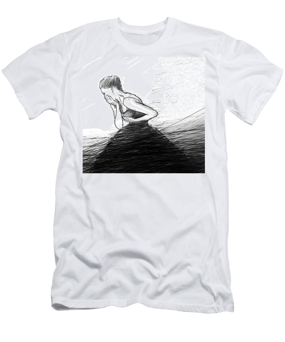 Ballet Men's T-Shirt (Athletic Fit) featuring the digital art Loss by H James Hoff