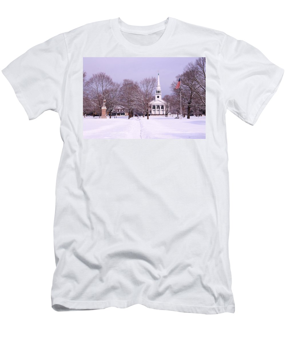 Guilford Green Men's T-Shirt (Athletic Fit) featuring the photograph Lots Of White by Catie Canetti
